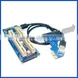 PCIE to daul 2port PCI riser conveter adapter card for Desktop