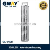 Wall-mounted 120pieces Led Rechargeable Emergency Lights,Using 1pcs 6V 4AH sealed lead-acid battery