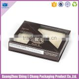Luxury creative design paperboard cigar packaging box with window/cigar box with insert holder