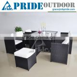 Rattan Garden Furniture Set Poly Wood Outdoor Aluminum Patio Rattan Garden Furniture Set