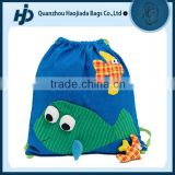 Cute design hardwaring cotton drawstring gym bag