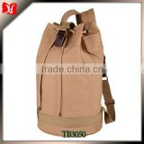 Bucket canvas men stylish bags sports gym hiking canvas book bag
