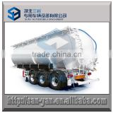 3 axle tipping powder tank semi trailer 70000 liters food grade aluminum dry bulk tanker trailer