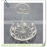 KZ8-06046 Home Decorative Metal Wire Fruit Tray with Handle