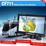 in-dash car color 7 inches tft lcd color monitor with 2 channel video input and remote control