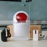 Wireless Outdoor Alarm Siren 120db with Red /Flash Strobe Light and Sound 11