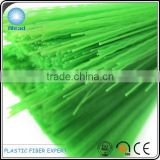 Different green colors of PET broom fiber PET synthetic fiber polyester plastic filament