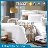 ToBest Hotel bedding Wholesale stripe jacquard 100% cotton hotel bedding set pillow cover/duvet cover