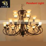 Led Iron Art Pendant/Wall Light With Patterned Lampshade For Home/Hotel Decoration
