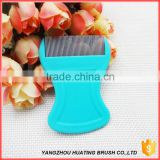 OEM dog grooming cheap personalized pocket metal lice comb for sale