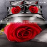 Fashion weifang factory pretty colorful adult home textile soft flower 3d bedding set weifang
