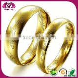 Simple Design Without Stone Pure Gold Wedding Ring