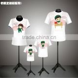 Cute 100% polyester family clothing set,kids cartoon t shirt                                                                         Quality Choice
