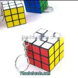 Wholesale PVC And Metal Small Puzzle Magic Cube Keychain PB-KC008