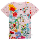 (K3750) 2 colors girls t shirts Nova kids wear stock available children clothes on promotion kids tshirts
