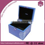 Fashionable wooden money gift boxes with lock