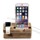 Bamboo Smart Watch and Phone Stand
