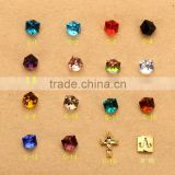 2016 4mm 6mm China Factory Faceted fashion Crystal Cube Shape decorative Glass Beads