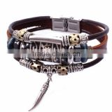 Little Pepper Pendant Cow Leather Rope Bracelet Leather