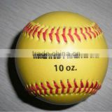 Yellow with printing training Baseball----BSCI FACTORY