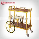 G-020 4 Wheels Noble Spicing Pot Food Transport Trolley Cart,Beverage Serving Trolley