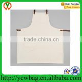 Wholesale rolling selvedge natural canvas apron with pocket
