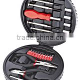 25PCS Round plastic box mechanic tool set long nose plier precision screwdriver extension bar