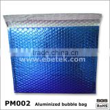 Blue aluminized film composite bubble envelope bag / Aluminum bubble bags,courier bag
