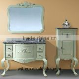 WTS-1366 antique white solid wood antique bathroom vanity cabinets/antique bathroom furniture