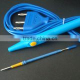 blue 3pin diathermy pencil for surgical instrument,medical disposable hand switch pencil