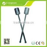 promotion custom wenzhou cangnan black plastic cocktail stirrer swizzle stick