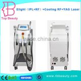 Elight+IPL+RF+Laser multi-functional beauty machine for skin rejuvenation, fast hair removal and tattoo removal