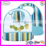E103 FDA Food Lead Safety Baby Bib Neoprene Printed Phthalates, PVC, BPA, Vinyl Free Neoprene Baby Bib