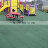 Anti-slip rubber tile