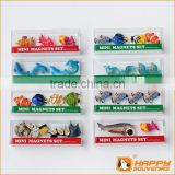 Custom refrigerator magnets tropical fish and dolphin shaped 3D resin magnets for sale