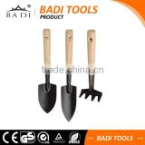 mini metal head wood handle kids garden tools mini set