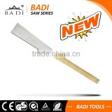BADI hardwood grip wrapped with special rattan handle double side blade teeth hand panel saw for carpenter