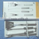 Heavy Duty Professional-Grade Stainless Steel 3-Piece BBQ Tool Set