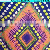 shaoxing cicheng textile Fashion new design pretty single jersey wholesale polyester wool blended fabric