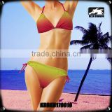 Sun Protect Material Bikinis Trendy fashion Girls Shiny Swimsuits