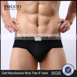 MGOO High Quality Bamboo Cotton Modal Brief For Man Plain Underwear Armour Brief Penis MB021