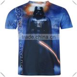 fashionable causal style comfortable fit full body sublimation printing Mens t-shirt wholesale