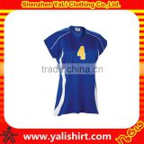 Custom new arrival best quality sleeveless dry fit print jerseys volleyball uniform designs