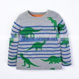 kids clothing autumn 2017 anti-pilling long sleeve stripes printed t-shirt little boys children t shirts in bulk