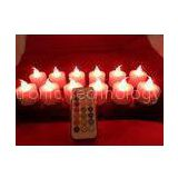 12 colors induction rechargeable electric plastic  LED candles