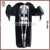Kids Adult Skull Skeleton Halloween Party Cosplay Scary Ghost Costume