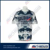 OEM service mesh fabric of short sleeve lacrosse uniform