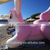 PVC pink inflatable rabbit toy for entertainment
