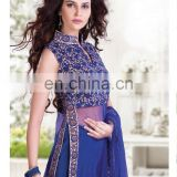 Blue Indian Pakistani Shalwar Kameez Designer Dress Stitched Anarkali Salwar Suit R1853