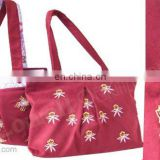 COTTON CANVAS EMBROIDERY BAG